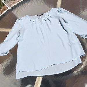 EXPRESS Baby Blue Size S, 3/4 sleeve blouse